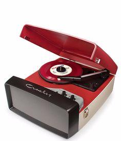 Collegiate Portable USB Turntable - Red + [ Bonus Spotlight LP Included ] #shopifypicks