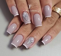 Diva Nails, Glam Nails, Classy Nails, Manicure And Pedicure, Beauty Nails, Glitter Nails, Cute Nails, Pretty Nails, My Nails