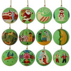 Gros Décorations De Noël En Papier Mâché Ornements D'Arbre De Suspension, 50 Séries De 12 Balles, 7,6 Cm ShalinIndia http://www.amazon.fr/dp/B00P60ONFC/ref=cm_sw_r_pi_dp_3tcCub15VNDFV