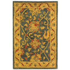 @Overstock - Update your home decor with this traditional wool rug Floor rug is hand-spun in India from 100-percent wool pile Area rug features fine details and a rich texture to last many yearshttp://www.overstock.com/Home-Garden/Handmade-Antique-Mashad-Blue-Ivory-Wool-Rug-2-x-3/3167211/product.html?CID=214117 $34.39