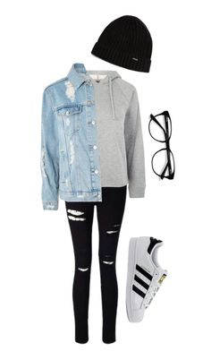 """""""#1"""" by thereisnohappyending on Polyvore featuring Miss Selfridge, Topshop, adidas, EyeBuyDirect.com and New Era"""
