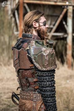 Postapocalyptic Fashion & Outfits Scout Outfit & Post Apocalyptic Outfit & LARP Costume & Fallout Outfit & Leather Armour More at: Follow me on Facebook: