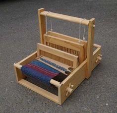 Weaving Loom Table Top Handmade by TumbleweedWoodworks on Etsy https://www.etsy.com/listing/57850910/weaving-loom-table-top-handmade
