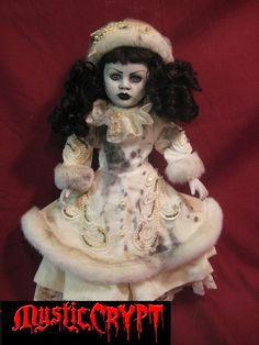 Spooky Winter Lady Creepy Horror Doll by Bastet2329 [730593] - $75.00 : Mystic Crypt, the most unique, hard to find items at ghoulishly great prices!