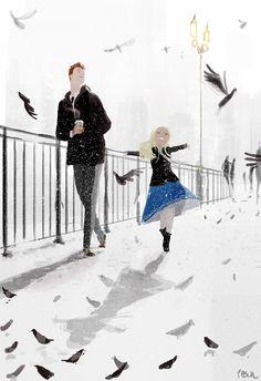 It snowed in March! by PascalCampion.deviantart.com on @DeviantArt