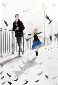 It snowed in March! by PascalCampion.deviantart.com on @DeviantArt