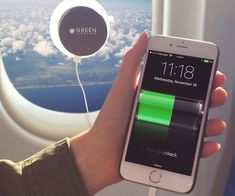 Keep your phone juiced up on long trips by bringing along this solar powered window phone charger. The device features an internal 2000 mAh lithium-ion battery that charges in 4 hours and comes with a suction cup for easy mounting on windows.