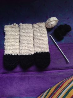 Crocheting legs on the train