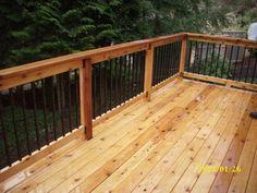 Metal Deck Railing Systems | Second story cedar deck | Deck Masters, llc