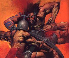 simon bisley   Slaine fights more gaurds - Simon Bisley Gallery.com