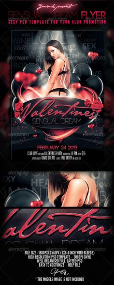 Sensual Dream Flyer PSD Template  • Only available here ➝ http://graphicriver.net/item/sensual-dream-flyer-template/3777211?ref=pxcr