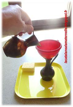 LaCatalane à la maternelle...: Atelier autonome : verser l'eau d'une carafe…