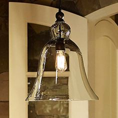 From light in the box 40W E27 Pendent Light with Bell Desgined Glass Shade – AUD $ 155.90