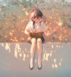 Super healthy foods to eat everyday life lyrics Anime Art Girl, Manga Art, Anime Girls, Pretty Art, Cute Art, Aesthetic Art, Aesthetic Anime, Pixiv Fantasia, Arte Obscura