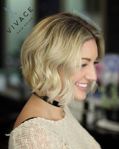Much shorter, much brighter! Highlight color blend, cut, & style by Kalyn Sieminski
