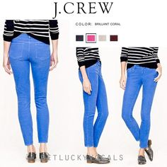 J. Crew Matchstick Skinny Jeans Almost new!! Only worn 3 times. J. Crew Matchstick Skinny Jeans. Color is a blue/purple. Size 29 regular. J. Crew Jeans Skinny