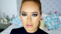 Khloe Kardashian Blue Smoky Eye Makeup Tutorial Watch my vlog from South Africa: https://youtu.be/f7V103mBJ9c I LOVE YOU GUYS xxxxx Products used: NARS Sheer...