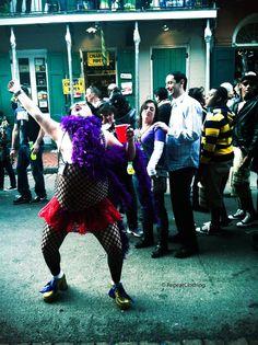 Bourbon Street Mardi Gras Drunk Drag Queen 5x7 by RepeatClothing, $10.00