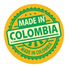 Sello de goma abstracta grunge con el texto realizado en colombia Ilustración De Stock Stickers, Countries, Doll Clothes, Pandora, Printables, Wallpaper, Logos, How To Make, Design
