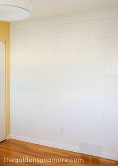 Nursery Progress : Wood Plank Wall