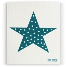 Scandinavian Swedish Dishcloth, Star, Heart, Dots, Set of 3 - Dark Turquoise (TN) -- Details can be found by clicking on the image.