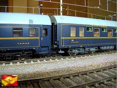 Ferrocarriles españoles. Coches CIWL. Escala H0.