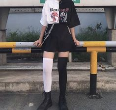Indie Outfits, Edgy Outfits, Grunge Outfits, Cool Outfits, Grunge Dress, Egirl Fashion, Korean Fashion, Fashion Outfits, Fashion Rocks