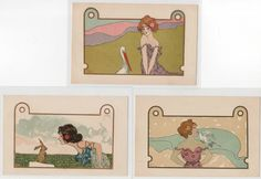 KIRCHNER Raphaël (Nini Hager) : complete set of 6 postcards -very good condition