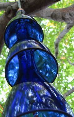 beautiful blue wind chimes . . .