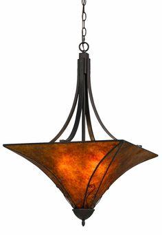 Mica Pendant Light Chandelier Art Deco Arts Crafts Design Bronze Iron Bell Curved Metal Fixture 22  sc 1 st  Pinterest & 19 best Drum Pendant Lights images on Pinterest | Pendant lamp ...