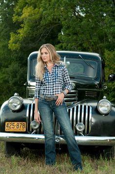 country girls on trucks on pinterest old trucks trucks. Black Bedroom Furniture Sets. Home Design Ideas