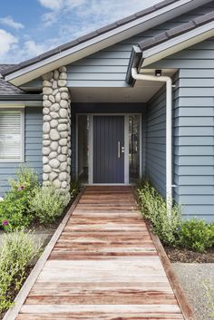 Linea Weatherboard showhome Traditional Home Exteriors, Traditional House, Outdoor Ideas, Outdoor Decor, Colonial, Coast, House Ideas, Villa, New Homes