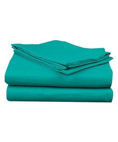 Turquoise Super Bright Sheet Set by Spirit Linen #zulilyfinds