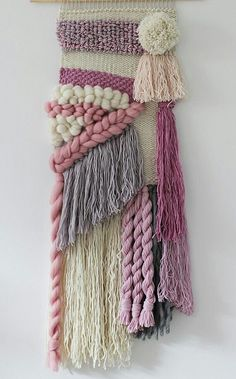 Fluffy triangle and rose Angled tassels