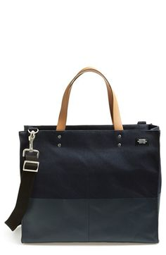 Men's Jack Spade 'Small Square' Dipped Canvas Tote - Blue