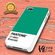 Pantone Emerald   for iphone, ipod, samsung galaxy, HTC and Nexus PHONE CASE