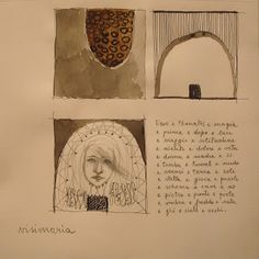 Monica M. Solinas, Visione-in-aria, grafite e china su carta, cm 20x20, 2013
