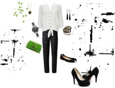 """""""To work black ensemble"""" by dino-girl on Polyvore (cool presentation)"""