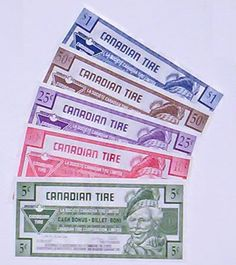 canadian tire money - our back-up currency for when the Americans take over CDN $