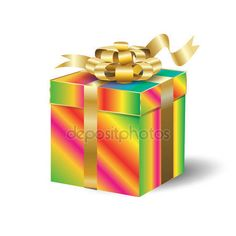 Download - 3d realistic gift box with bow and confetti isolated on white. For Holiday, birthday, Christmas, Valentine's Day celebration. Template Vector illustration. — Stock Illustration #158281424