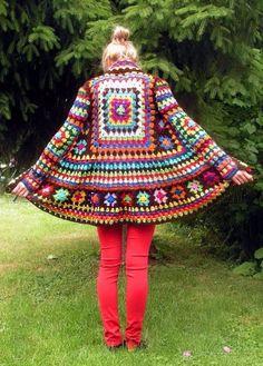 Crochet Granny Square Jacket Pattern