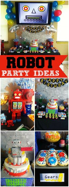 What an awesome robot birthday party! See more party ideas at CatchMyParty.com!