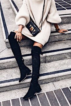 Loving this pair of over the knee boots.
