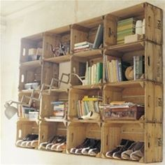 woodbox shelving