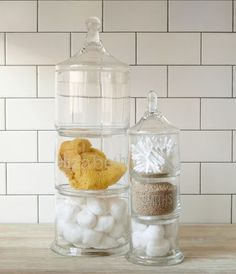 West Elm apothecary jars