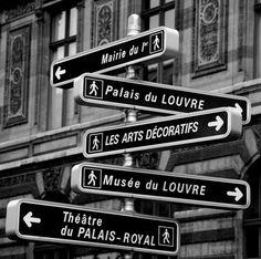 Decisions, Decisions........Paris Street Signs