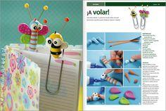 Especial Porcelana fría INFANTIL Nº02 - 2012 #Evia Octubre fun craft, fav craft, bookmark, fav diy, diy gift, bug