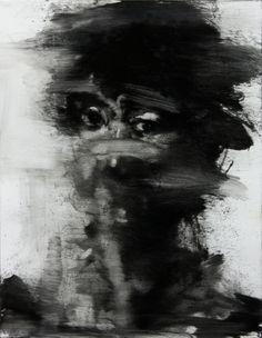untitled oil on canvas x cm 2013 by KwangHo Shin, via Behance Abstract Portrait, Portrait Art, Portraits, Depression Art, Dark Drawings, Charcoal Sketch, Painting People, Art For Art Sake, Figurative Art
