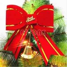 2015 Hot Christmas Bowknot Xmas Festival Tree Hanging Bow Ornament Party Home Decoration