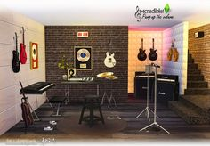 Sims 4 CC's - The Best: Pump Up The Volume Music Room Set by SIMcredible!
